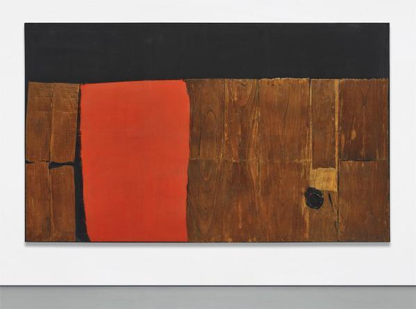 Alberto Burri-Grande Legno E Rosso-1959