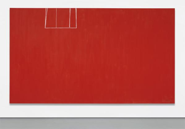 Robert Motherwell-Open No. 153: In Scarlet With White Line-1970