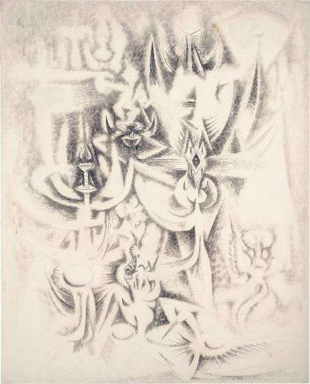 Wifredo Lam-Sur Les Traces (Also Known As Transformation)-1945