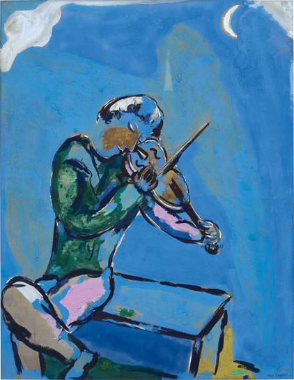 Marc Chagall-Le Violoniste Bleu-1929