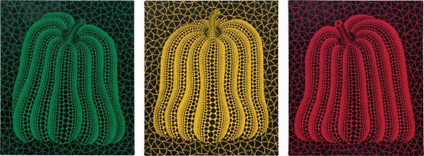 Yayoi Kusama-Pumpkin (Three Works)-2002