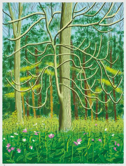 David Hockney-The Arrival Of Spring In Woldgate, East Yorkshire In 2011- 4 May-2011