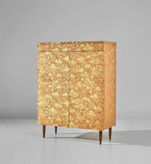 Piero Fornasetti - Rare Piccolo Coromandel Cabinet-1958