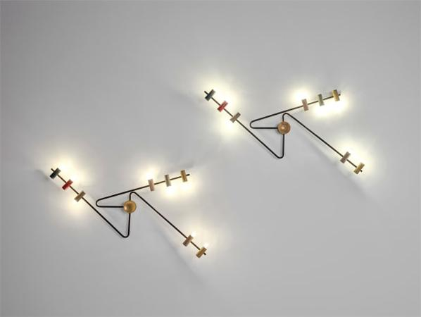 Bruno Gatta - Pair Of Rare Wall Lights-1956