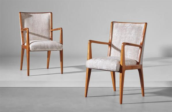 Gio Ponti-Pair Of Armchairs, Model No. 498, Designed For The First Class Games Room Of The Giulio Cesare Transatlantic Ocean Liner-1949