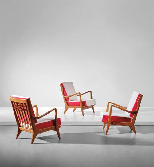 Gio Ponti-Set Of Three Armchairs, Model No. 516-1950