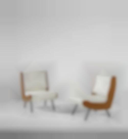 Gianfranco Frattini - Pair Of Lounge Chairs-1959