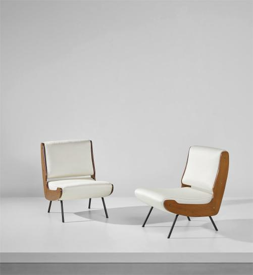 Gianfranco Frattini - Pair Of Lounge Chairs-1959
