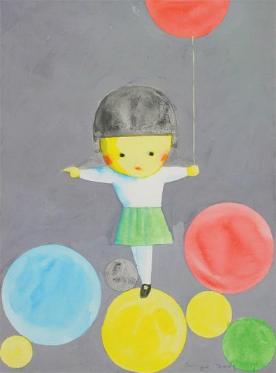 Liu Ye-Girl With Balloons-2001
