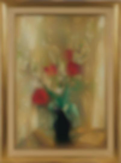 Le Pho-Les Tulipes Rouges Et Les Fleurs De Pommier (Red Tulips And Apple Blossoms)-