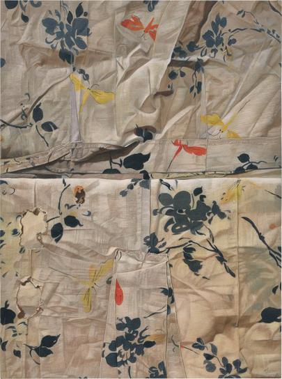 Marina Cruz-Whites And Blues Torn And Mended By Dragonflies-2016