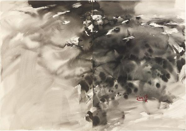 T'ang Haywen - Untitled (Diptych)-1985