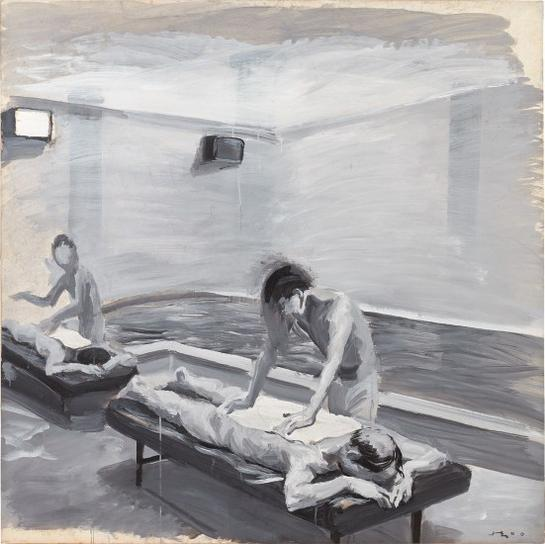 Liu Xiaodong-Boys In The Bathhouse No. 5-2000