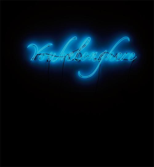 Tavares Strachan-You Belong Here (Blue)-2012