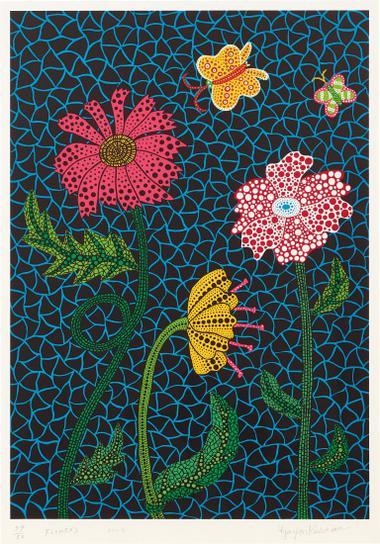 Yayoi Kusama-Flowers (Kusama 309)-2002