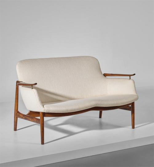 Finn Juhl-Two-Seater Sofa, Model No. Fj 53-1953