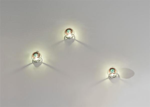 Venini - Set Of Three Grata Wall Lights-1975