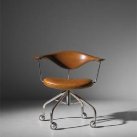 Hans J. Wegner-Early Swivel Armchair, Model No. Jh502-1955