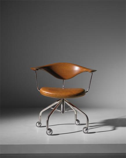 Hans J. Wegner-Early Swivel Armchair, Model No. Jh502-1955