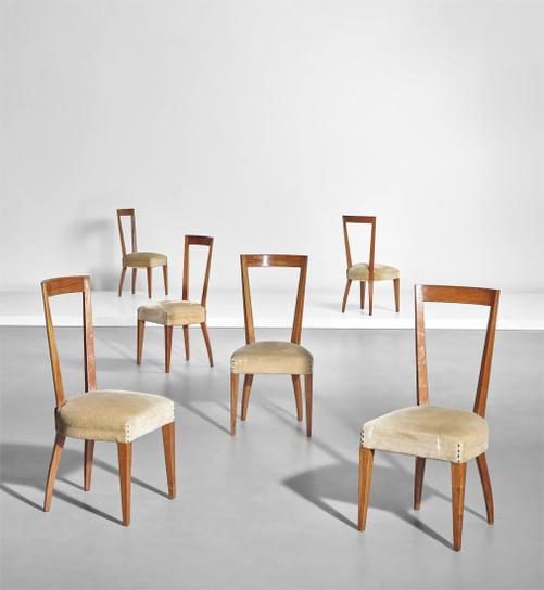 Gio Ponti-Set Of Six Dining Chairs-1939