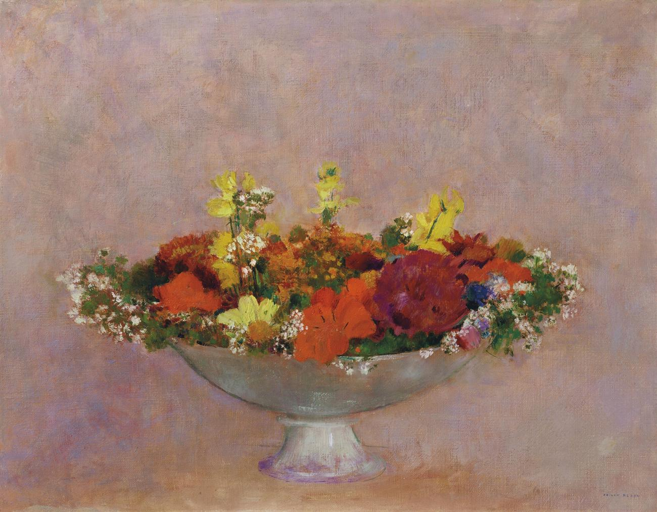 Odilon Redon-Fleurs Dans Une Coupe-