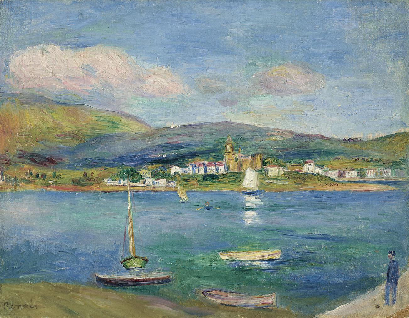 Pierre-Auguste Renoir-Port De Peche, Vue De Fontarabie Depuis Hendaye-1895