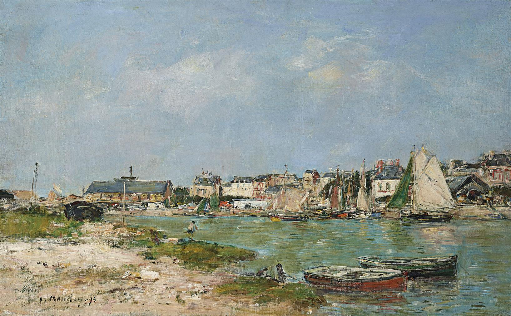 Eugene Louis Boudin-Trouville, Le Port-1895
