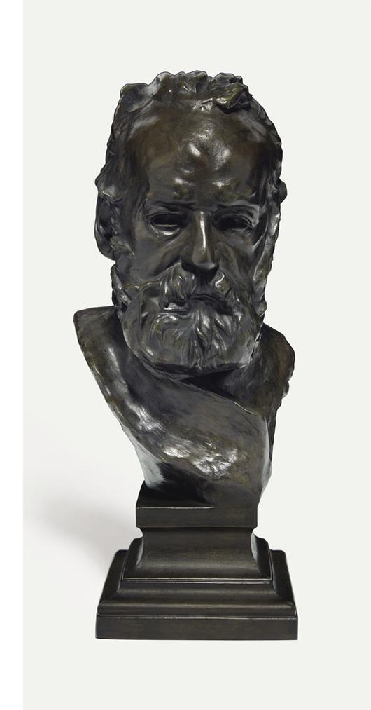 Auguste Rodin-Buste De Victor Hugo Dit A Lillustre Maitre, Reduction Avec Piedouche Integre-1883