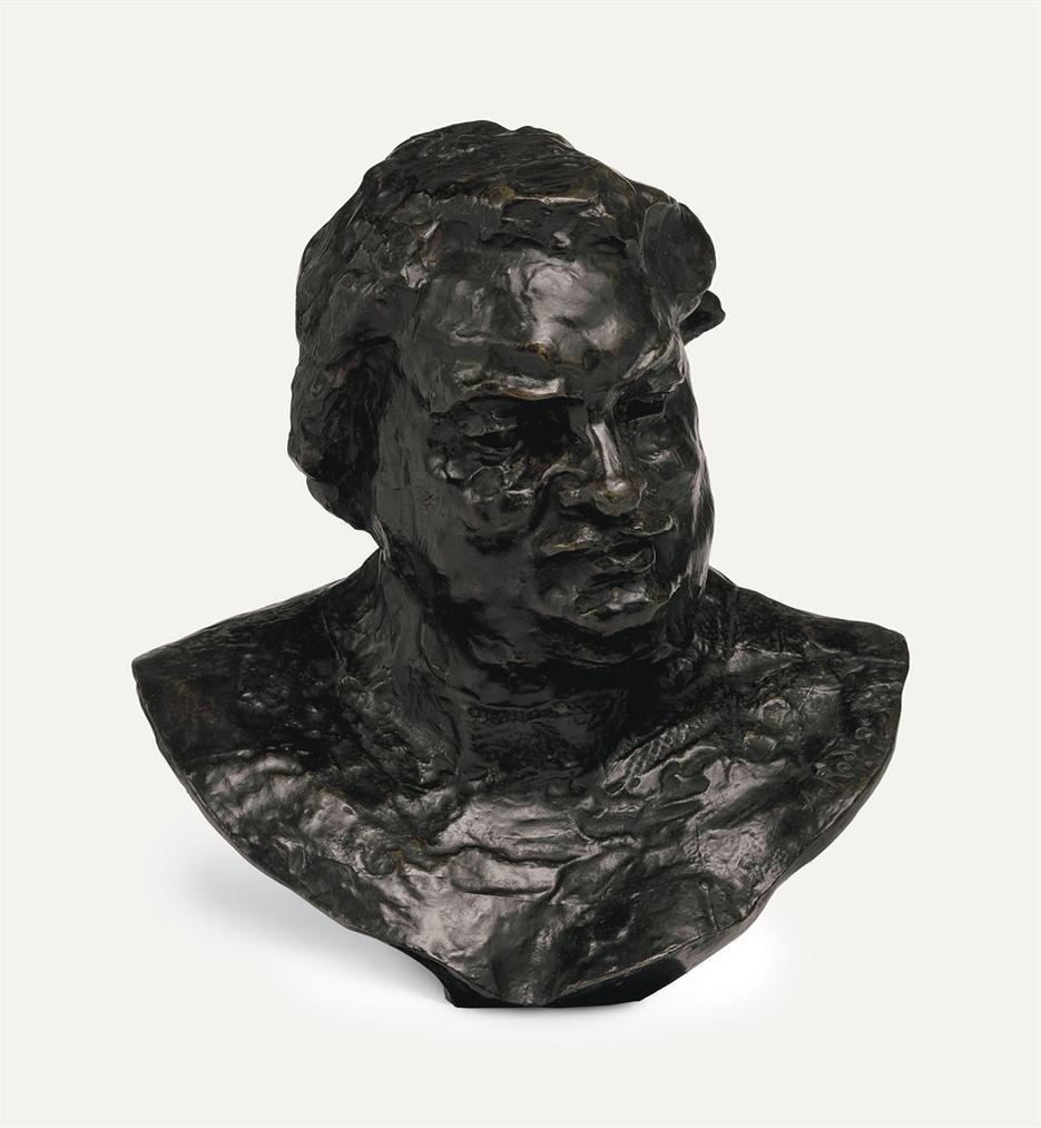 Auguste Rodin-Balzac, Etude Type C (Buste), Deuxieme Version, Grand Modele-1892