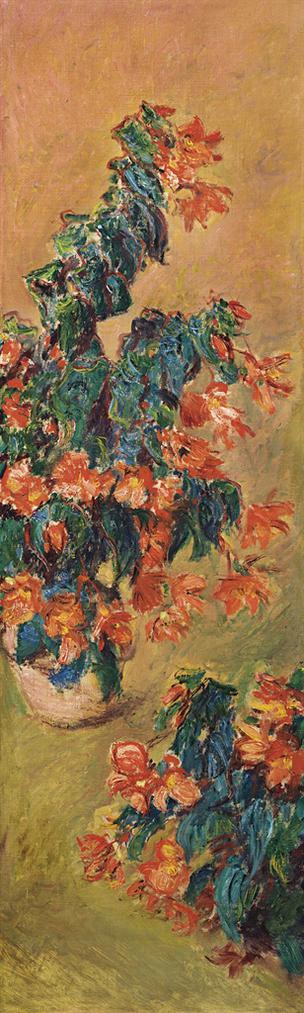 Claude Monet-Azalees Rouges En Pot-1883
