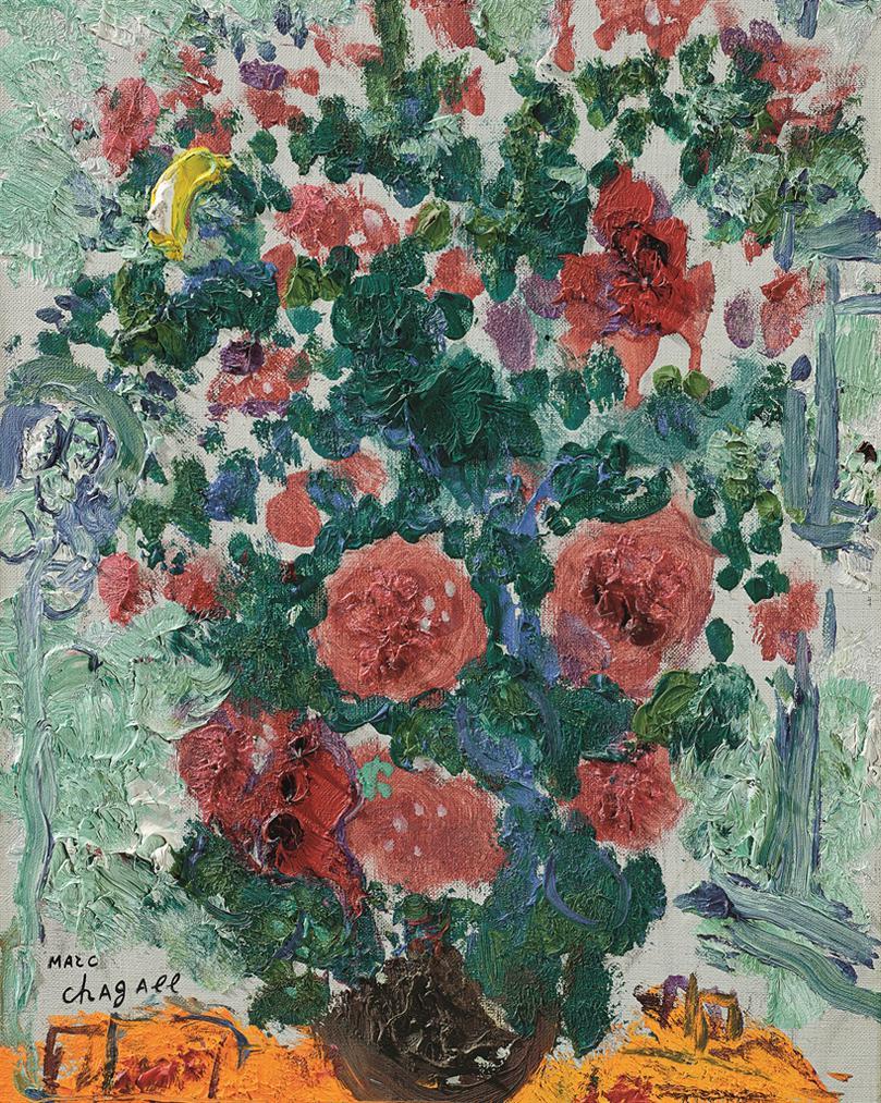 Marc Chagall-Le Bouquet Rouge-1960