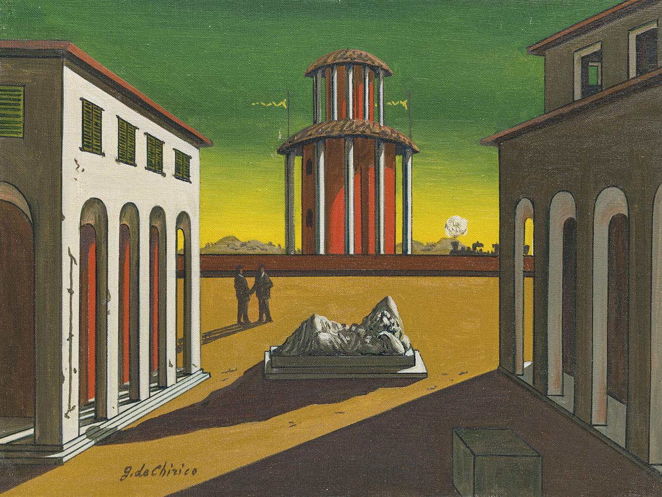 Giorgio de Chirico-Piazza Ditalia-1956