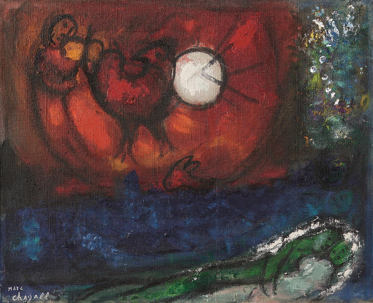 Marc Chagall-Etude Pour La Nuit De Vence-1956