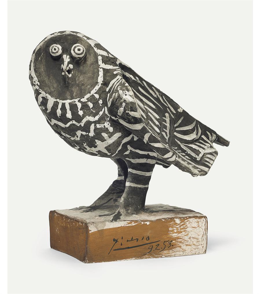 Pablo Picasso-Le Hibou Gris-1953