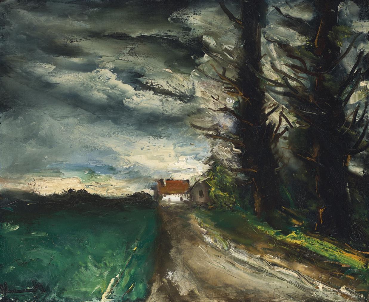 Maurice de Vlaminck-La Maison Lointaine-1955