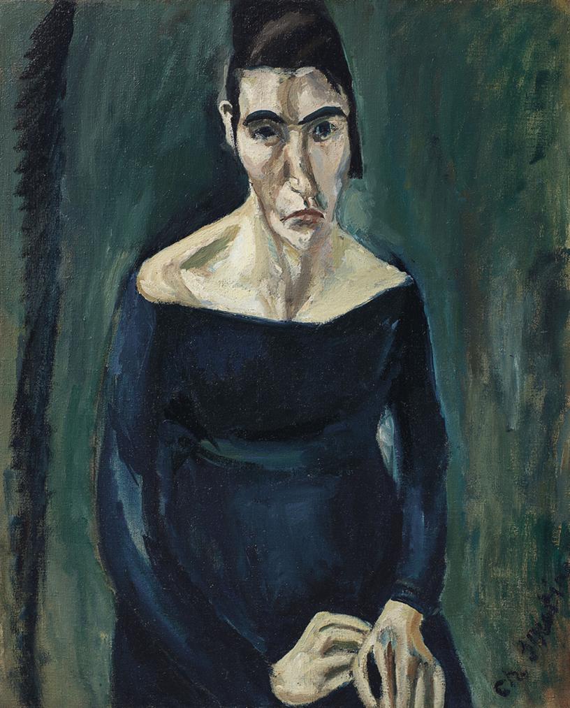 Chaim Soutine-La Folle-1918