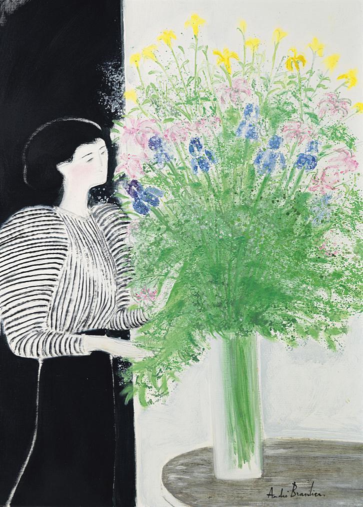 Andre Brasilier-Chantal Au Bouquet-1977