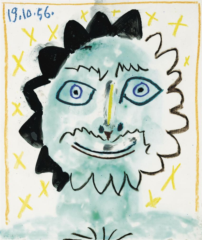Pablo Picasso-Tete Soleil-1956