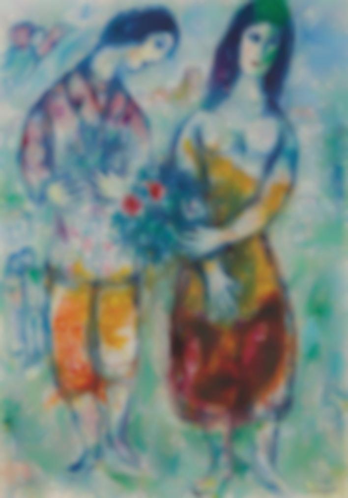Marc Chagall-Les Paysans-1971