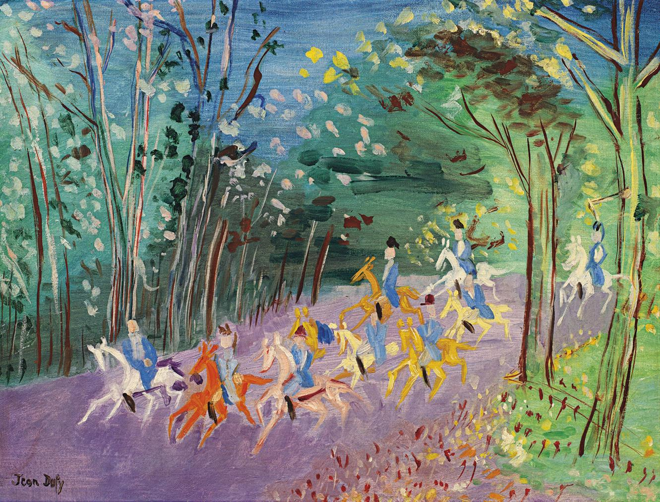 Jean Dufy-Chasse A Courre-1960