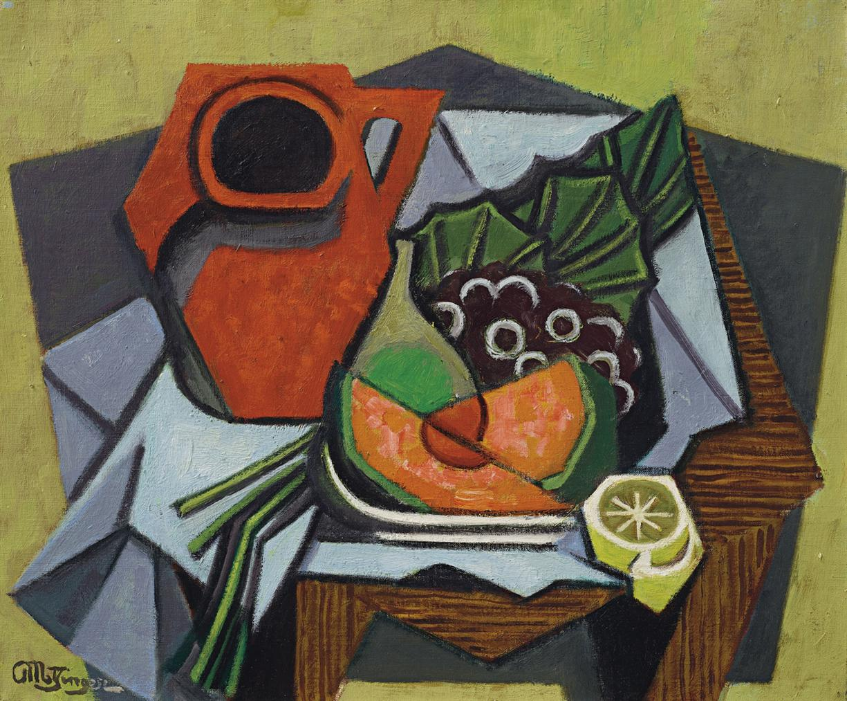 Jean Metzinger-Pichet Rouge, Tranches De Melon Et Citron-1950