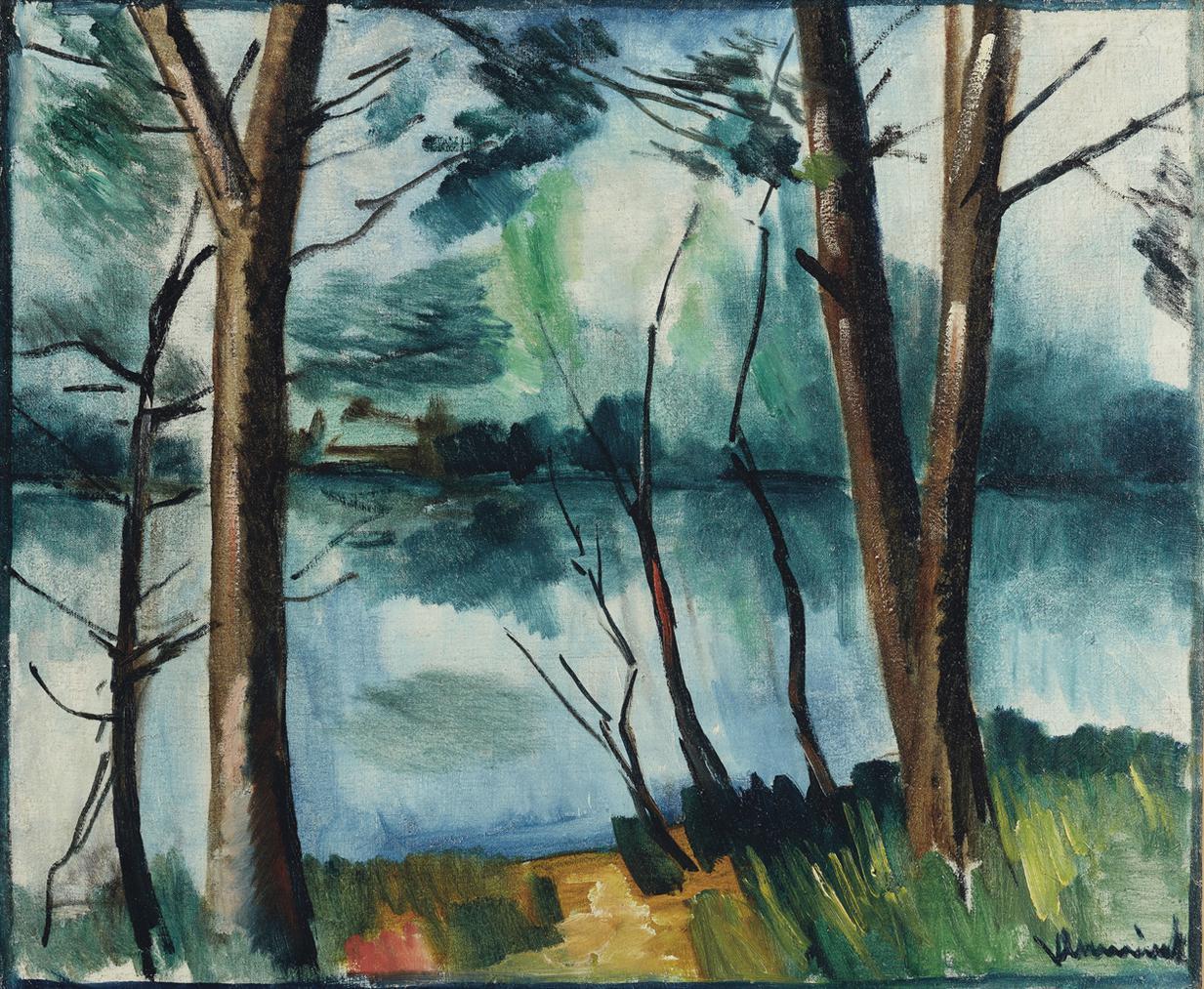 Maurice de Vlaminck-Paysage De Riviere-1912