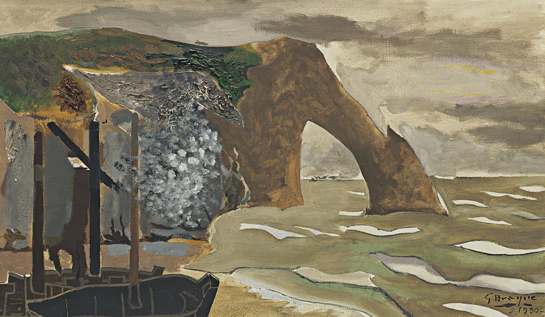 Georges Braque-La Falaise Detretat-1930