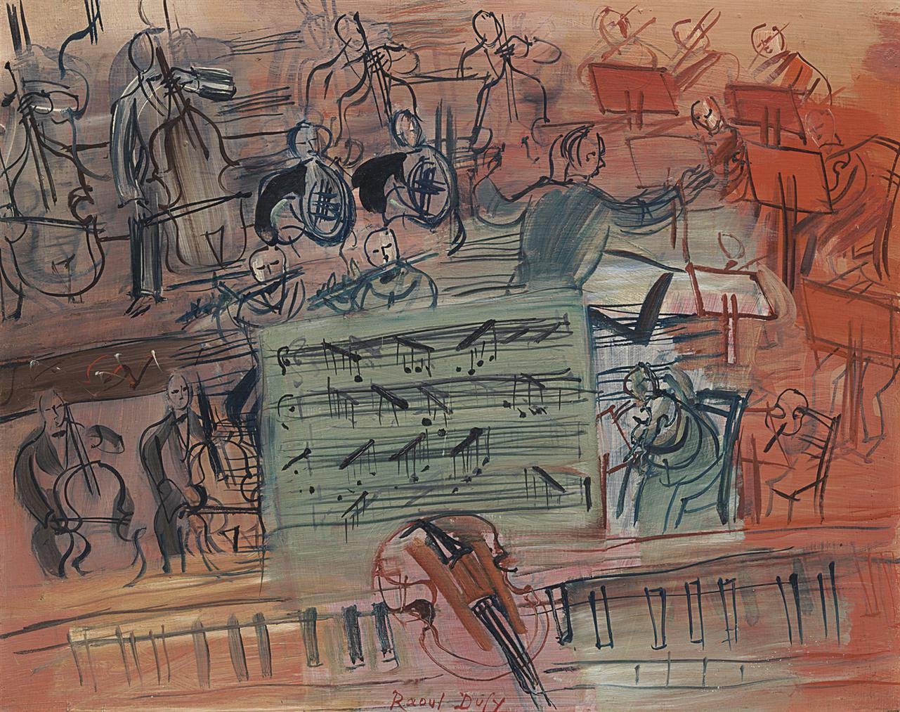 Raoul Dufy-Le Concerto Au Violon-1951