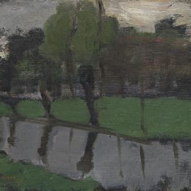 Piet Mondrian-Hoeve Met Wilgen Aan Het Water I-1903