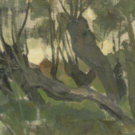Piet Mondrian-Wilgenbos, Stammen Leunen Naar Links Ii-1903