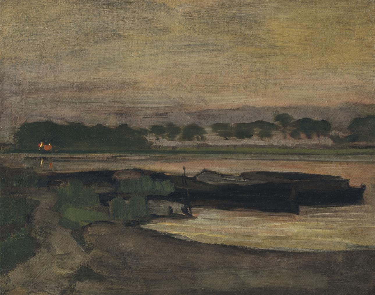 Piet Mondrian-Aan Ouderkerkerdijk Bij De Omval In De Avond II-1907