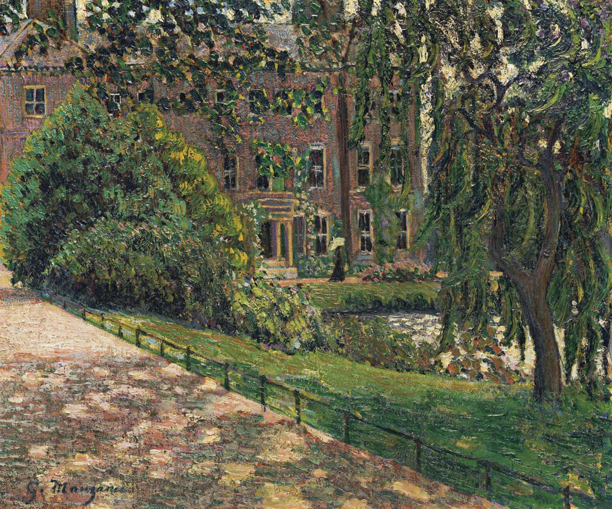 Georges Manzana-Pissarro - Elegante Dans Un Jardin-