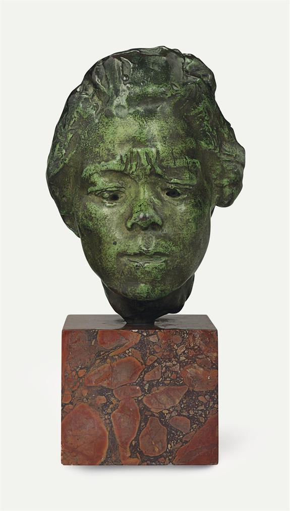 Auguste Rodin-Masque Dhanako, Etude Type A, Moyen Modele-1908