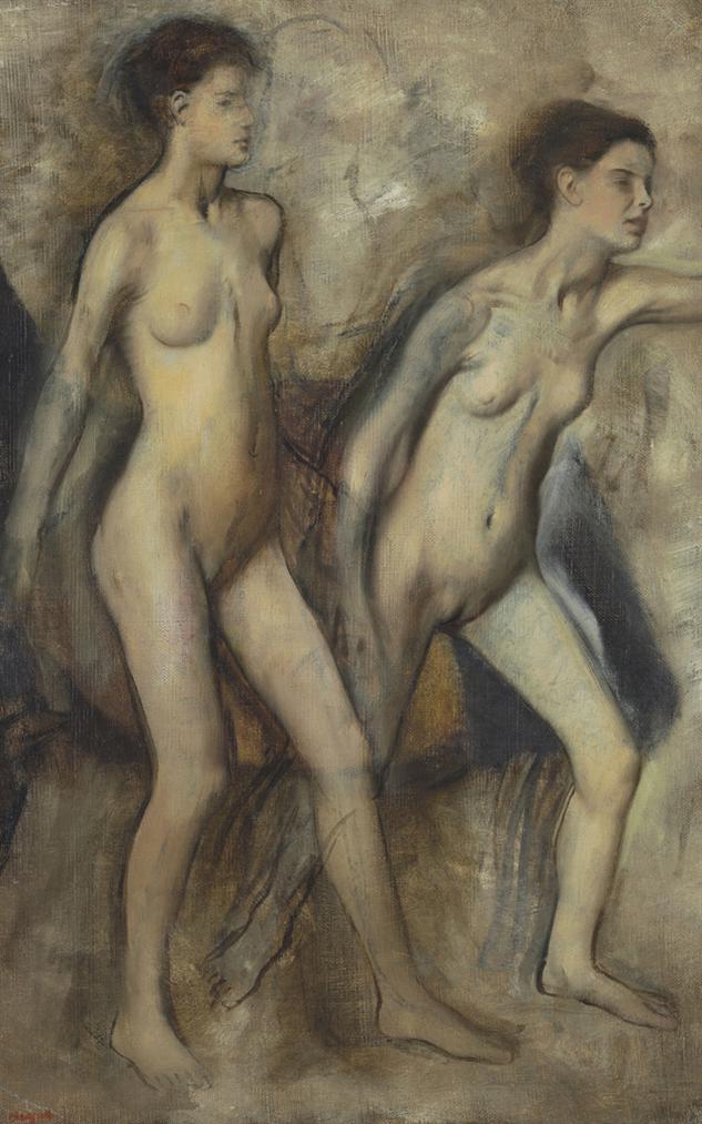 Edgar Degas-Petites Filles Spartiates Provoquant Des Garcons (Jeunes Spartiates Sexercant A La Lutte)-1860